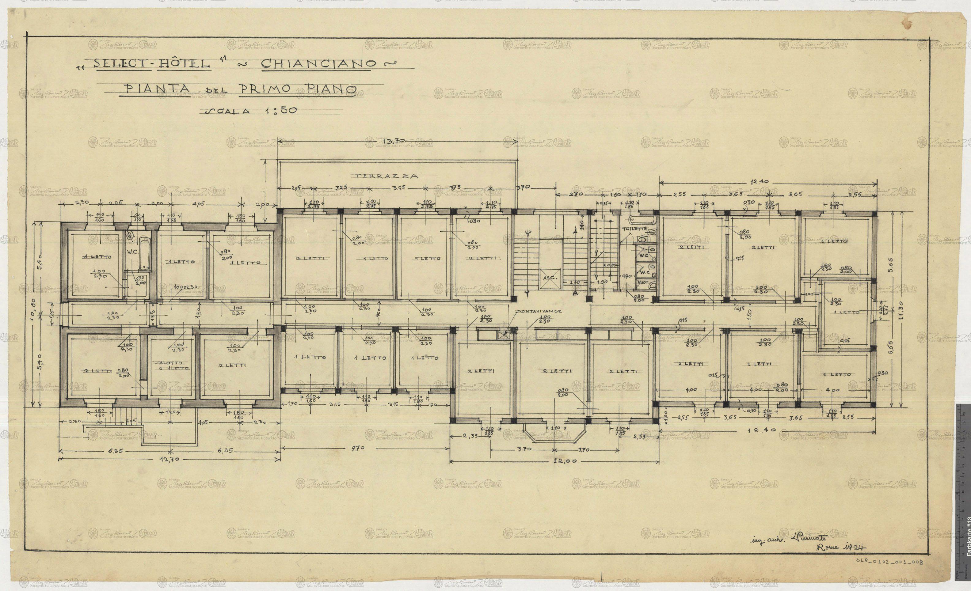 Piani e progetti luigi piccinato for Piani di garage rv